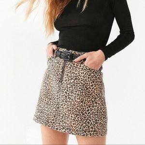 BDG Leopard print skirt